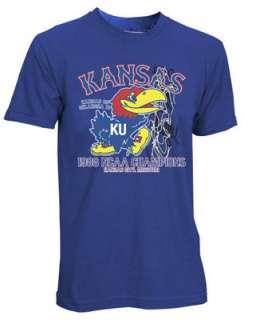 Kansas Jayhawks 1988 NCAA National Champions Throwback T Shirt