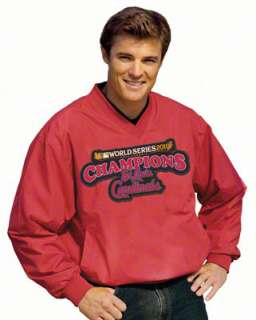 St. Louis Cardinals Red 2011 World Series Champions Sideline Pullover