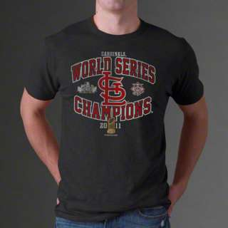 St. Louis Cardinals Grey 2011 World Series Champions Arch Scrum T