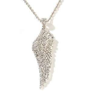 Justine Simmons Jewelry Angel Wing CZ Pendant