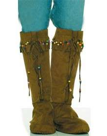 boot tops peace tread lightly in these faux suede fringed hippie boot