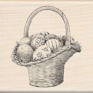 Inkadinkado Seasonal Mounted Rubber Stamp   Easter Basket