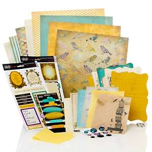 Glitz Dance in Sunshine Double Page Layout Kit