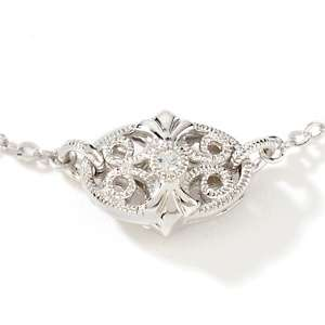 Xavier .66ct Absolute™ Sterling Silver Oval Filigree 36 Station