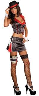 Sexy Gangster Alice Capone Costume   Gangster Costumes