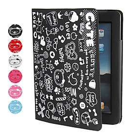 Lovely Cute Girl Protective PU Leather Case Stand for Apple iPad 2