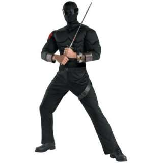 GI Joe   Snake Eyes Classic Muscle Chest Adult Costume   Costumes