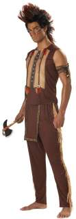 Warrior Costume for Adults  American Indian Warrior Halloween Costume