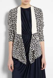 Black Leopard Print Silk Tuxedo Jacket by 3.1 Phillip Lim