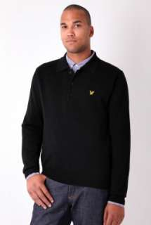 Black Merino Wool Polo Neck by Lyle & Scott   Black   Buy Knitwear
