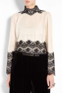 By Malene Birger  Flori Lace Overlay Blouse by By Malene Birger