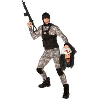 Navy Seal Adult Costume   Includes Bodysuit, hood and vest. Does not