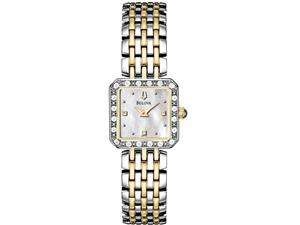98R132 Silver Stainless Steel Quartz Watch with Mother Of Pearl Dial