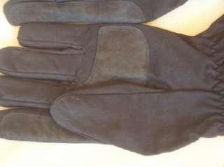 Oilskin Nubuck Leather Gauntlet Motorcycle Gloves Brown & Black