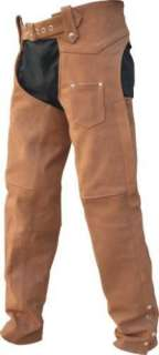 Lady Biker BROWN BUFFALO HIDE Leather JACKET CHAPS Set