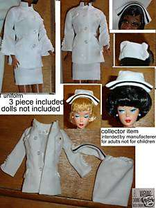 Barbie doll clothes Julia nurses uniform hat coat skirt vintage mod
