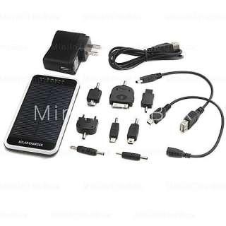 cargador solar de aluminio con una linterna para / iphone / ipod