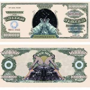 Set of 10 Bills Gemini Million Dollar Bill: Toys & Games
