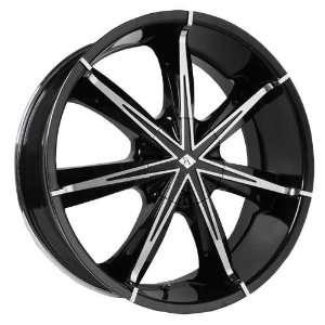 Black Ice Nexus 20 Chrome Black Wheel / Rim 5x115 & 5x100 with a 38mm