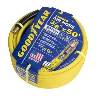 46505 3/8 Inch by 50 Feet 250 PSI Rubber Air Hose With 1/4 Inch