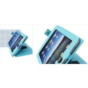 Apple Ipad Leather Case & Stand Cover Bag /Blue