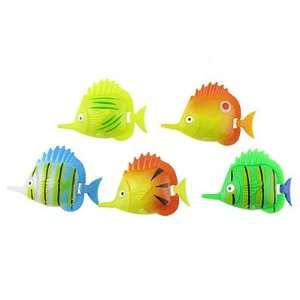 Como Tank Aquarium Colorful Plastic Tropical Fish