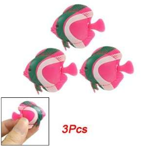 Como Aquarium Pink Grn Swimming Tropical Fish Ornament 3