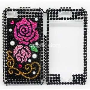 Bling Diamond Flower Back and Front Hard Case Cover Skin
