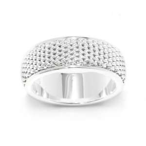 Bling Jewelry Sterling Silver Rotating Mesh Band Ring   10 Jewelry