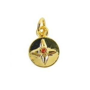 Birthstone Charm   Add to your Necklace or Charm Bracelet Gold Tone