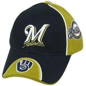 MLB MILWAUKEE BREWERS NAVY BLUE GOLD BASEBALL HAT CAP