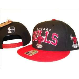 & Red Chicago Bulls Adjustable Snap Back Baseball Cap Hat Giant Logo