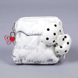 Hello Kitty Faux Leather Coin Purse Wallet White Toys & Games