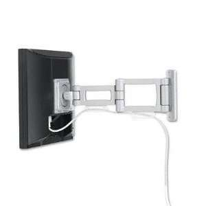 Articulating Dual Arm for Small Flat Panel Monitor, Aluminum, Silver