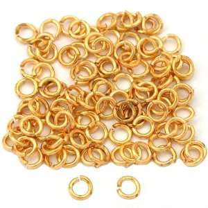 100 Gold Plated Open Jump Rings Connectors 4mm