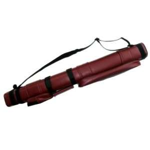 2x2 Hard Pool Cue Billiard Stick Carrying Case, Red