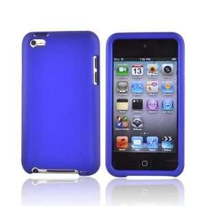 For Apple iPod Touch 4 Rubberized Hard Case Cover BLUE