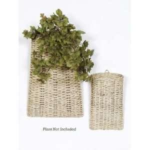 Bistro Beige Wooden Wall Hanging Pocket Baskets Patio, Lawn & Garden