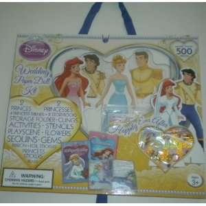 Disney Princess Wedding Paper Doll Kit Cinderella Ariel