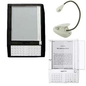 , Premium Bundle Black Silicone Skin Case Cover, White eBook Reader