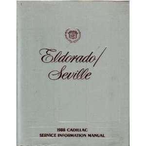 1988 CADILLAC ELDORADO SEVILLE Service Repair Manual