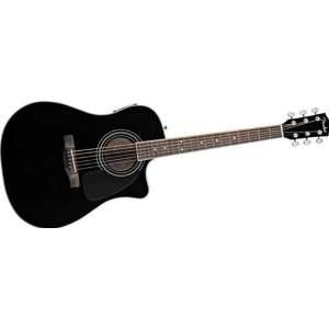 Fender CD140SCE Acoustic Electric Guitar   Black: Musical Instruments