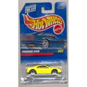 Hot Wheels 1999 993 YELLOW Ferrari 348 164 Scale  Toys & Games