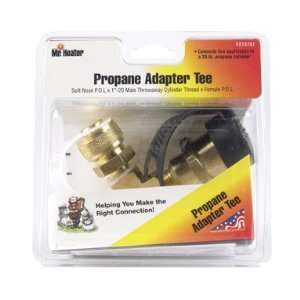 Mr. Heater PROPANE ADAPTER TEE w/P.O.L. x 1x20 x FEMALE P.O.L. w/ACME
