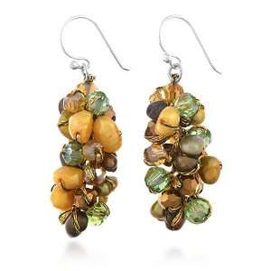 Genuine Orange Tone Multi Color Dyed Freshwater Cultured Pearl
