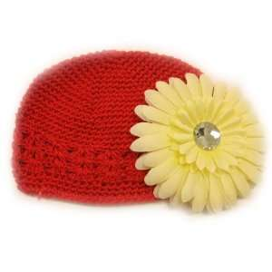 Fits 0   9 Months With a 4 Cream Gerbera Daisy Flower Hair Clip Baby