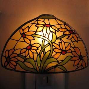 Stained Glass Lamp Night Light Sunflower Bouquet Toys
