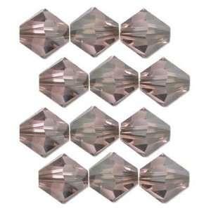 12 Satin Light Rose Swarovski Crystal Bicone Beads 4mm
