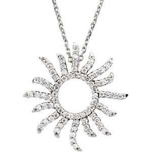 White Gold Diamond Sun Sunburst Necklace Diamond Designs Jewelry