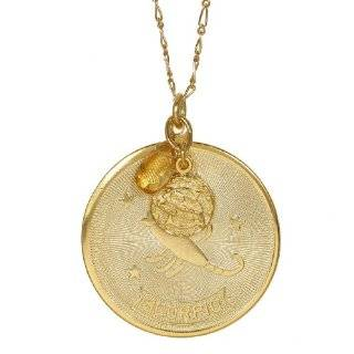 gorjana Astrology Gold Tone Zodiac Sign Charm Necklace Scorpio